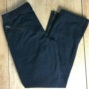 REI Cotton Ripstop Zip Pockets Straight Leg Pants